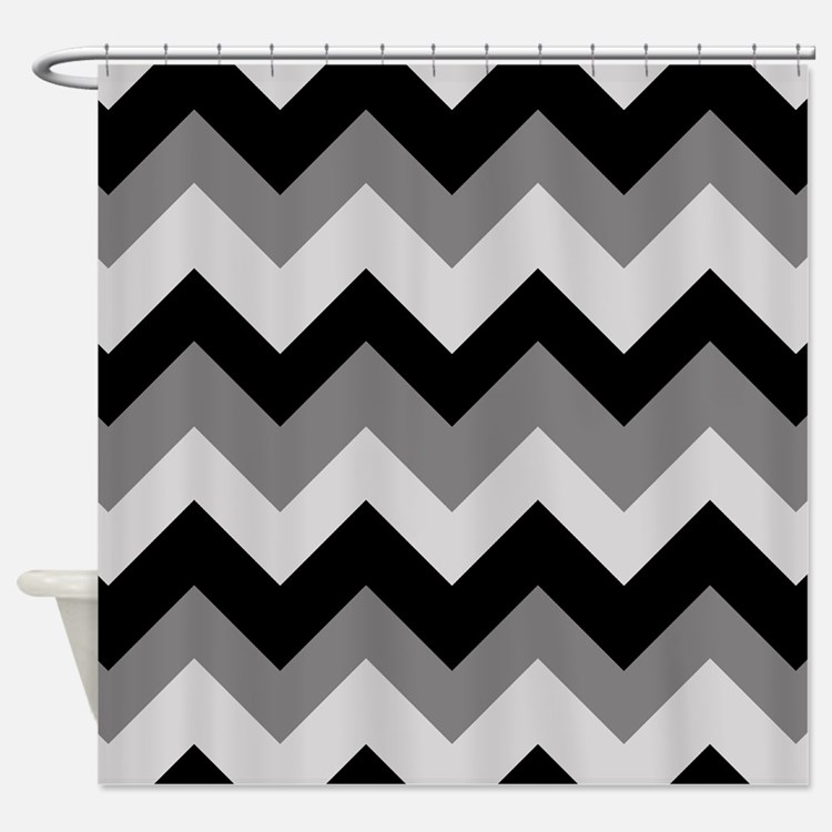 Black And White Chevron Shower Curtains - Best Curtain 2017
