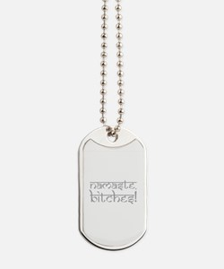 Ohm Indian Design Dog Tags