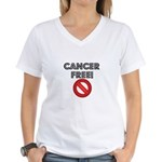 Cancer Free Women's V-Neck T-Shirt