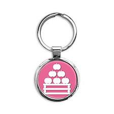 merced Round Keychain