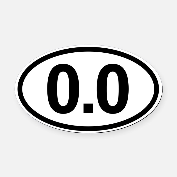 Cute 0.0 Oval Car Magnet
