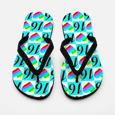 LOVING 16TH Flip Flops