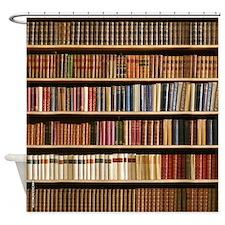 Book Shelf Shower Curtain