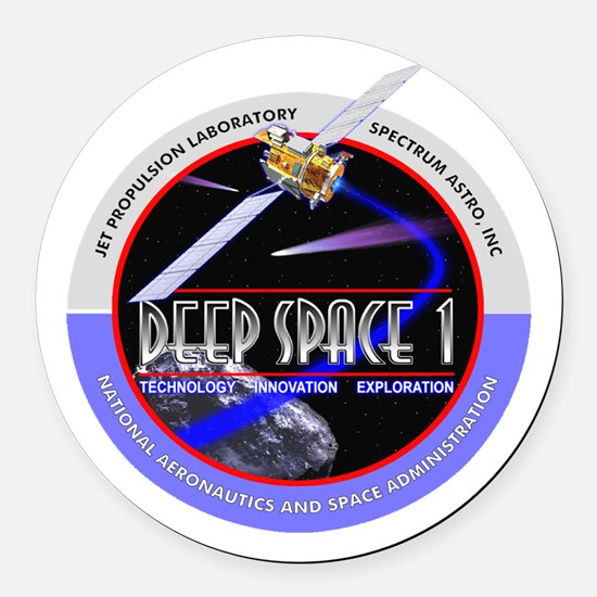 Deep Space 1 Round Car Magnet