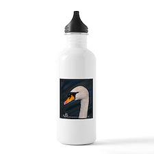 Mute Swan Portrait Water Bottle