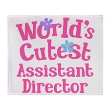 Worlds Cutest Assistant Director Throw Blanket
