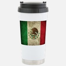 Mexico Flag dirty Stainless Steel Travel Mug