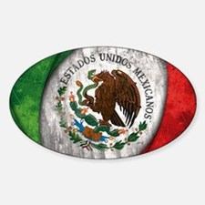 Mexican flag centre Decal