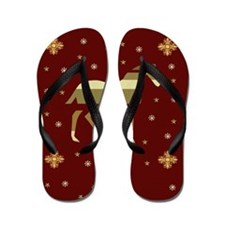 Chinese Year Of The Horse Flip Flops
