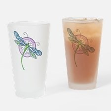 Whimsical Dragonfly Drinking Glass