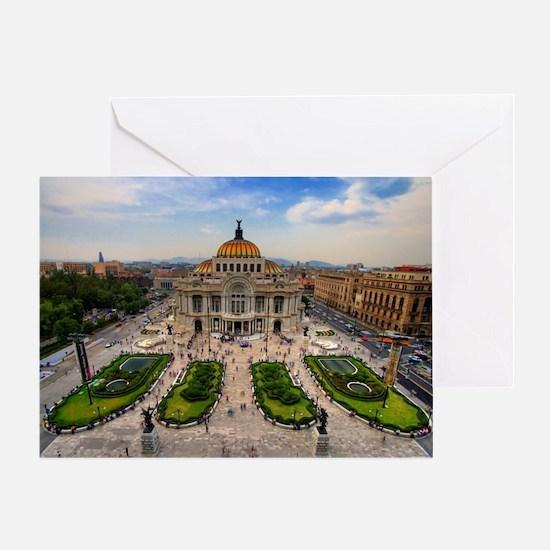 Palacio de Bellas Artes landscape Greeting Card