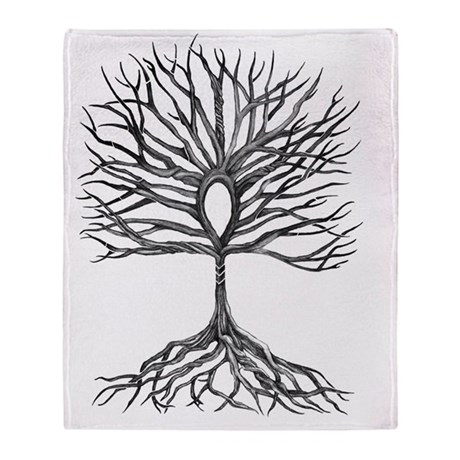Ankh Tree of LIfe Throw Blanket