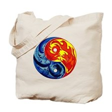 Yin-Yang Fire and Ice Tote Bag