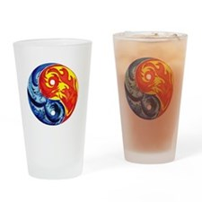 Yin-Yang Fire and Ice Drinking Glass