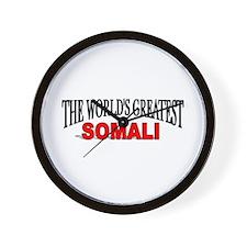 """The World's Greatest Somali"" Wall Clock"
