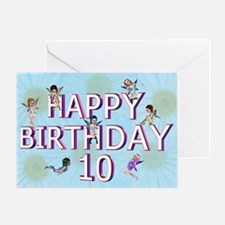 10th birthday card with Flower fairies Greeting Ca