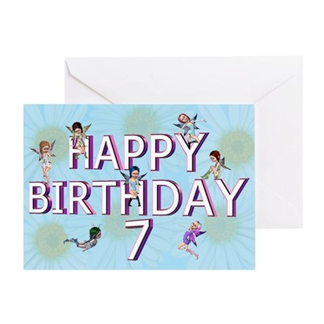 7th birthday card with Flower fairies Greeting Car