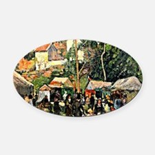 Pissarro - Festival at the Hermita Oval Car Magnet