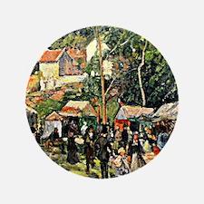 """Pissarro - Festival at the Hermitage 3.5"""" Button"""