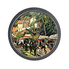 Pissarro - Festival at the Hermitage Wall Clock