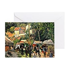 Pissarro - Festival at the Hermitage Greeting Card
