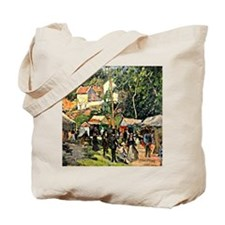 Pissarro - Festival at the Hermitage Tote Bag