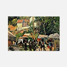Pissarro - Festival at the Hermit Rectangle Magnet