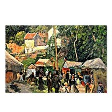 Pissarro - Festival at th Postcards (Package of 8)