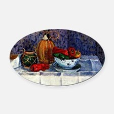 Pissarro - Still Life with Peppers Oval Car Magnet