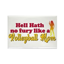 Attitude Volleyball Mom Rectangle Magnet