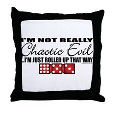 Not Really Chaotic Evil Throw Pillow