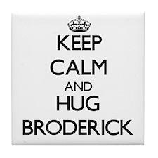 Keep calm and Hug Broderick Tile Coaster