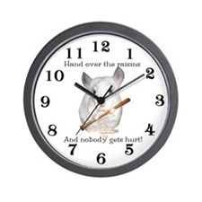Chin Raisin2 Wall Clock