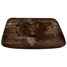 Steampunk Love Bathmat