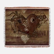 Steampunk Love Woven Blanket