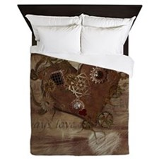 Steampunk Love Queen Duvet