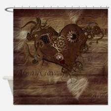 Steampunk Love Shower Curtain