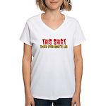 This Shirt Kicks Your Shirt's Women's V-Neck T-Shi