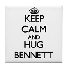 Keep calm and Hug Bennett Tile Coaster