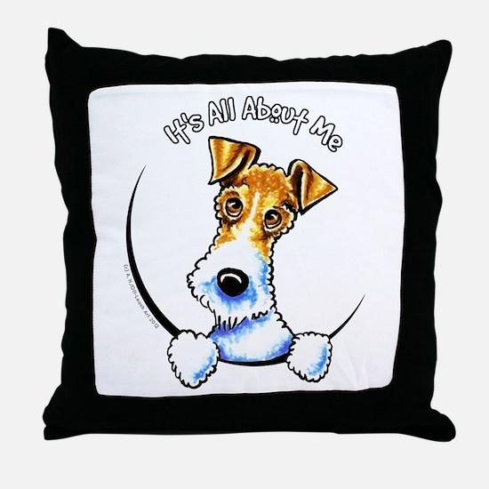 Wire Fox Terrier IAAM Throw Pillow