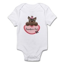 Grandpa's Girl Yorkie Heart Baby/Toddler bodysuit