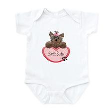 Little Sister Yorkie Heart Baby/Toddler bodysuits