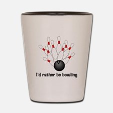 I'd Rather Be Bowling Shot Glass