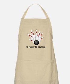 I'd Rather Be Bowling Apron