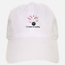 I'd Rather Be Bowling Baseball Baseball Cap