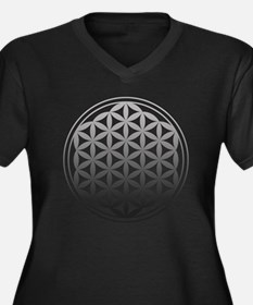 flower of life2 Women's Plus Size V-Neck Dark T-Sh