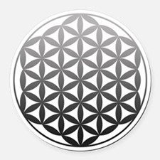 flower of life2 Round Car Magnet