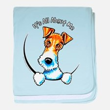 Wire Fox Terrier IAAM baby blanket