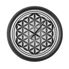 flower of life3 Large Wall Clock