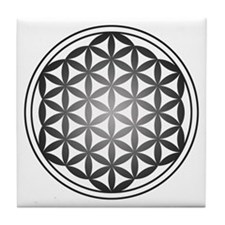 flower of life3 Tile Coaster